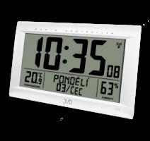 Rádiem řízené digitální hodiny s budíkem JVD stříbrné RB9075.2 obrázek