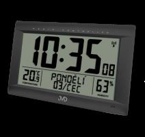 Rádiem řízené digitální hodiny  s budíkem JVD černé RB9075.1 obrázek