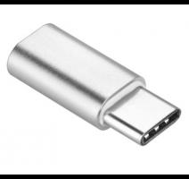Adapter microUSB na USB-C, stříbrná  (BLISTR) obrázek