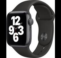 Apple Watch SE 44mm Space Gray, Black Sport Band obrázek