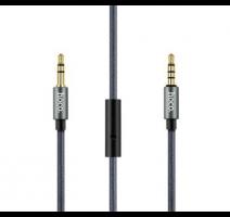 Data, audio kabel HOCO UPA04 Noble sound, Jack 3,5mm - Jack 3,5mm, mikrofon, 1m, černá obrázek