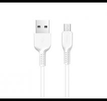 Data kabel HOCO X20 Flash, microUSB, 2.4A, 2m, bílá obrázek