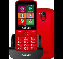 Evolveo EP-900 EasyPhone AD, Red, OS Android - pro seniory + nabíjecí stojánek obrázek