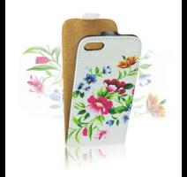 ForCell Slim Flip Pouzdro Flower vzor2 pro Samsung i9195 Galaxy S4mini obrázek