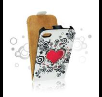 ForCell Slim Flip Pouzdro Srdce vzor3 pro Samsung i9195 Galaxy S4mini obrázek