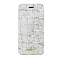 GUFLBKP6SCOBE Guess Shiny Croco Book Pouzdro Beige pro iPhone 6/6S obrázek