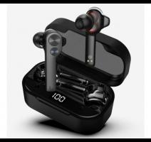 HF, sluchátka Bluetooth UiiSii TWS808 stereo, LCD, černá obrázek