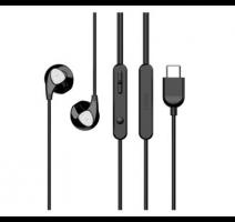 HF, sluchátka UiiSii C1 stereo, USB-C, Premium Sound Hi-Fi, black/černá obrázek