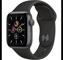 Hodinky Apple Watch SE 40mm Space Gray, Black Sport pásek (2020) obrázek