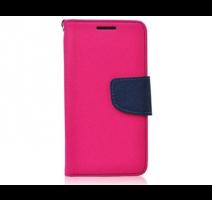Pouzdro typu kniha pro iPhone 5,5S,SE růžovo-modrá (BULK) obrázek