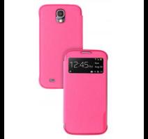 SAMS4WFPI Made by Samsung Kožené Folio S-View Pouzdro Pink pro S4 i9500 (EU Blister) obrázek