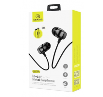 USAMS EP-36 In-Ear Steel Stereo Headset 3,5mm Black (EU Blister) obrázek