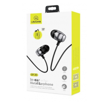 USAMS EP-36 In-Ear Steel Stereo Headset 3,5mm Tarnish (EU Blister) obrázek