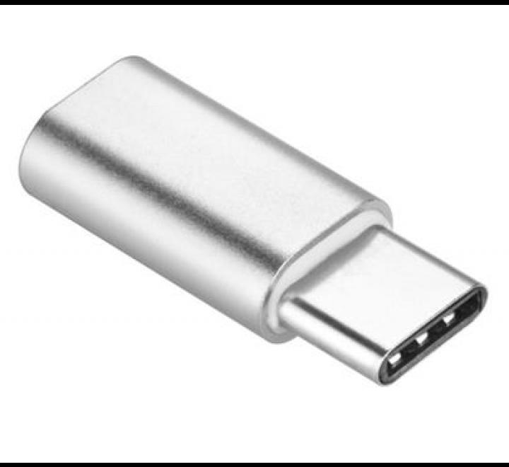 Adapter microUSB na USB-C, stříbrná  (BLISTR)