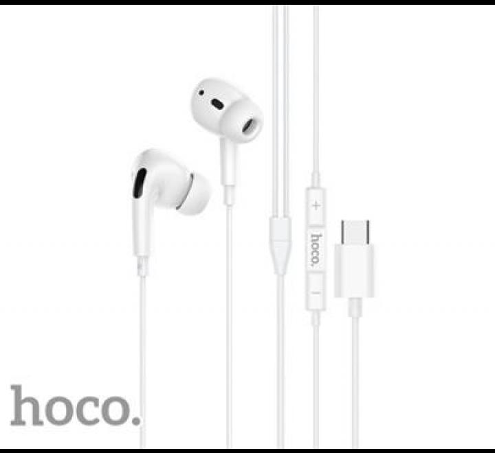 HF, sluchátka HOCO M1 Pro, stereo, USB-C, bílá