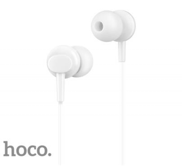 HF, sluchátka HOCO M14 Initial sound, stereo, jack 3,5 mm, bílá