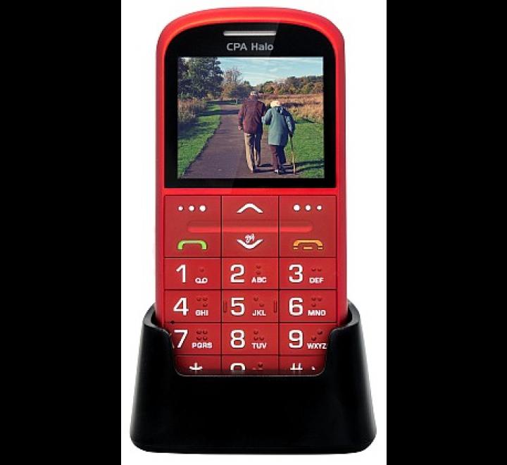 myPhone 1011 SENIOR - CPA Halo 11 Pro Senior, červený s nabíjecím stojánkem