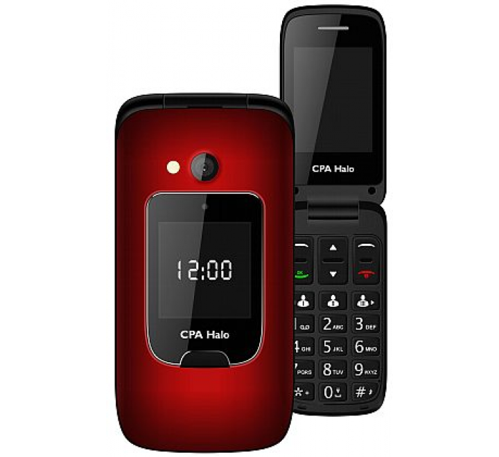 myPhone 1015 SENIOR - CPA Halo 15, červený + nabíjecí stojánek