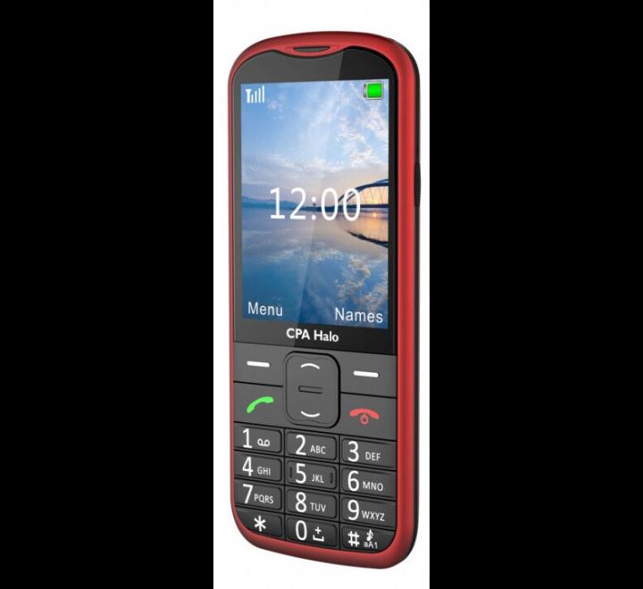 myPhone 1018 SENIOR - CPA Halo 18, Red / červený - s nabíjecím stojánkem