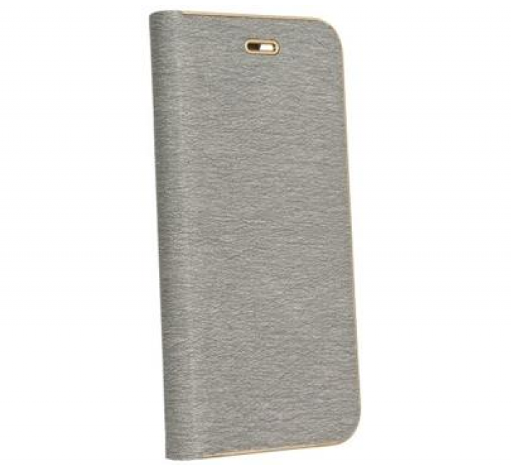 Pouzdro Forcell Luna Book pro Apple iPhone 7, 8, stříbrná