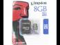 microSDHC 8GB Kingston Class 4 w/a (EU Blister)